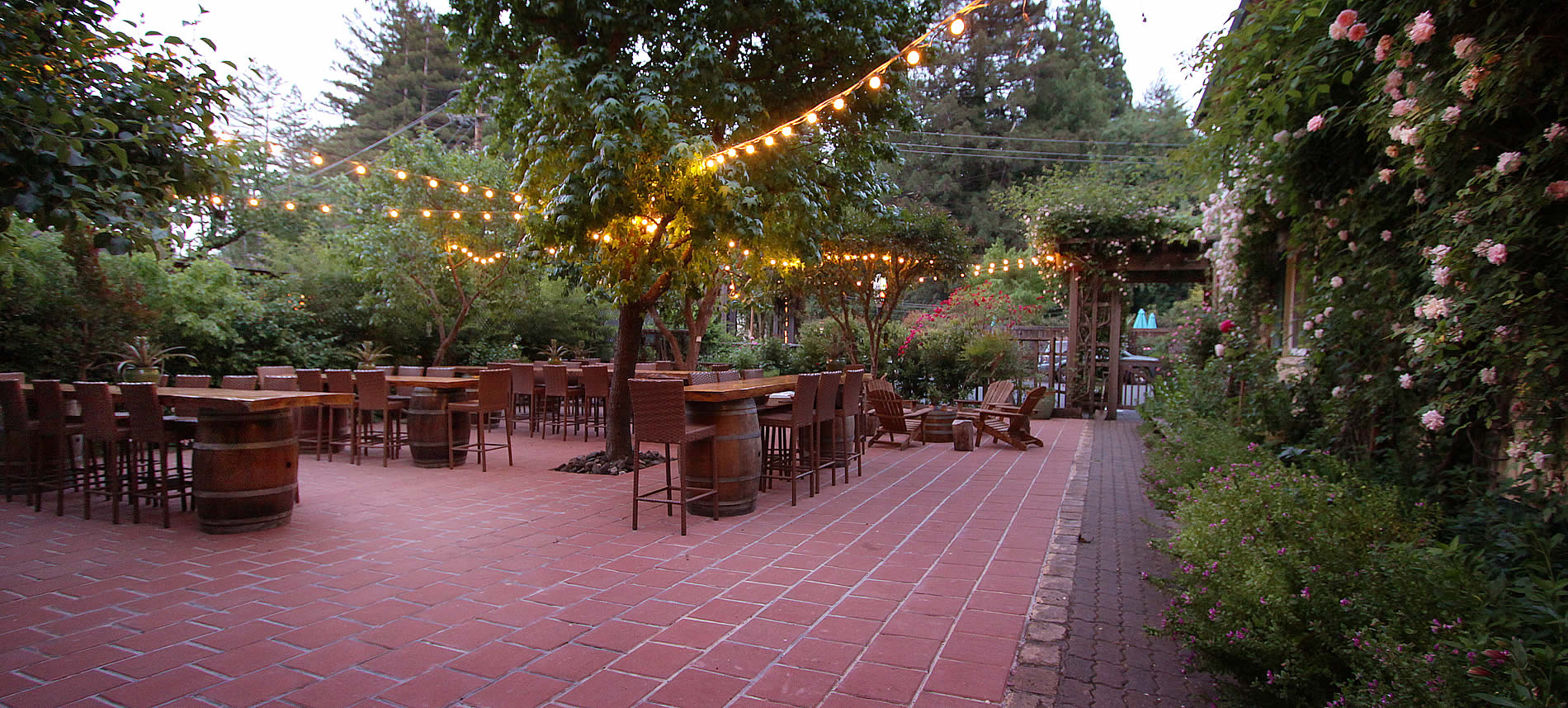 group travel russian river large patio for meetings