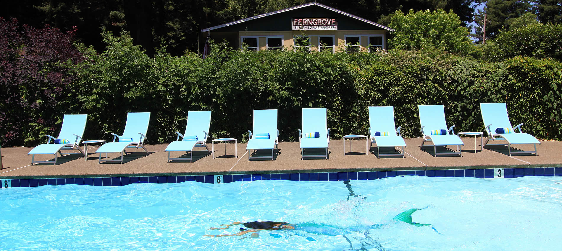 russian river bed and breakfast with a swimming pool